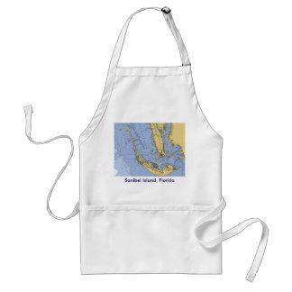 Tablier nautique de diagramme de la Floride d'île