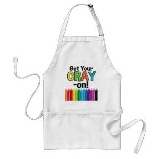 Tablier Obtenez votre Cray sur le professeur d'art fou de
