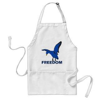 Tablier oiseau dans la liberté