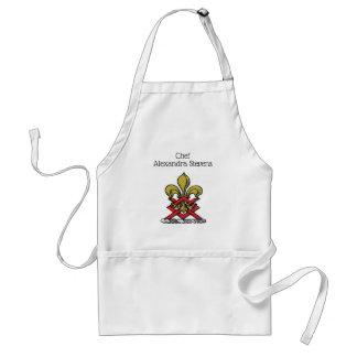 Tablier Or de très bon goût Crest Fleur de Lis Emblem