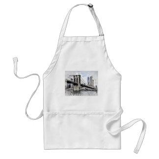 Tablier Paysage urbain Etats-Unis de ville d'horizon