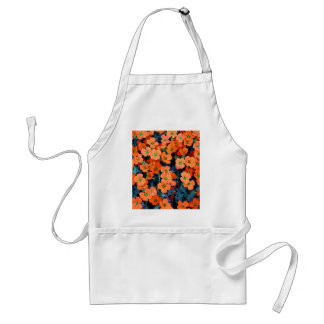 Tablier Petites fleurs oranges