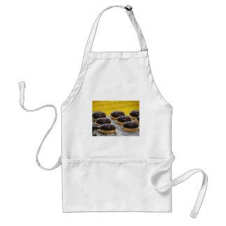 Tablier Petits gâteaux de chocolat vitrés avec des grains
