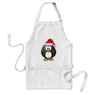 Tablier Pingouin Père Noël