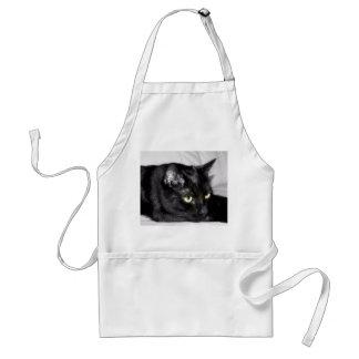 Tablier Portrait mignon de chat noir