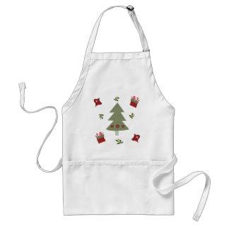 Tablier Présents et houx d'arbre de Noël