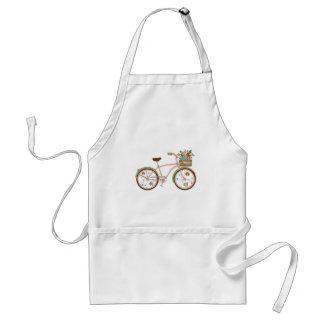 Tablier Rétro bicyclette avec karzinkoy pour des fleurs