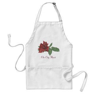 Tablier rose de fleuriste d'obscurité