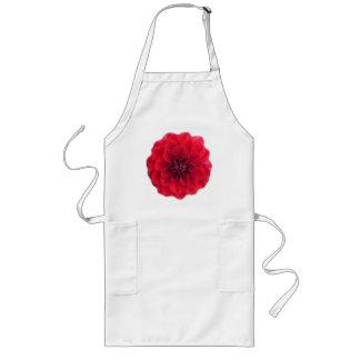 Tablier rouge de fleur