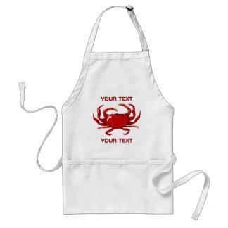 Tablier rouge de modèle de crabe