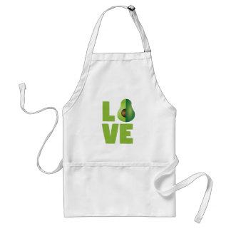Tablier Sain végétarien végétalien de nourriture d'amour