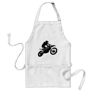 Tablier Sport blanc noir de Motorcyle de motocross d'art