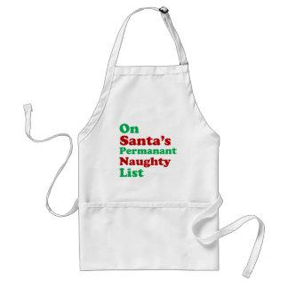 Tablier Sur Noël vilain permanent de la liste de Père Noël