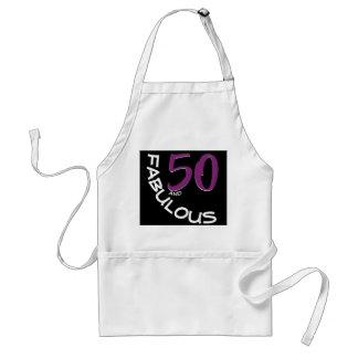 Tablier Typographie pourpre et blanche 50 et anniversaire