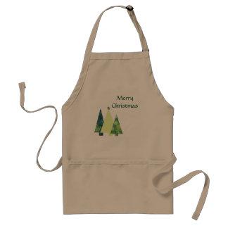 Tablier Vacances d'arbres de Noël de trois Crafter à la