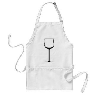 Tablier Verre de vin rouge
