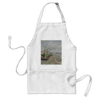 Tablier Vincent van Gogh - bateaux de pêche sur Saintes