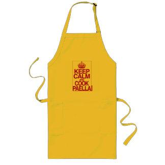 Tabliers Maintenez Paella calme et de cuisinier