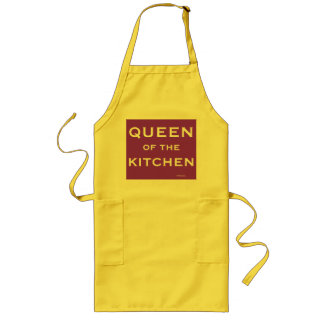 Tabliers Reine nommée drôle de cuisinier féminin de chef de