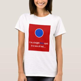 Tache bleue lumineuse - Démocrate T-shirt