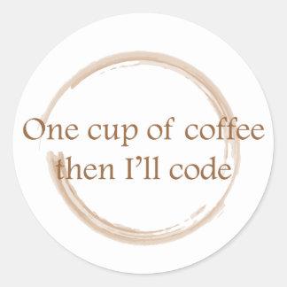Tache de café sticker rond