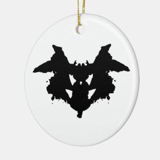 Tache d'encre de Rorschach Ornement Rond En Céramique