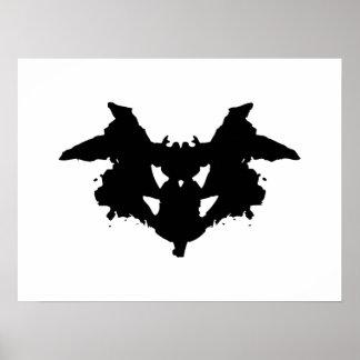 Tache d'encre de Rorschach Poster