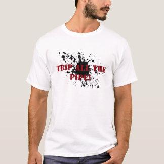Tache d'huile de chemise de gisement de pétrole t-shirt