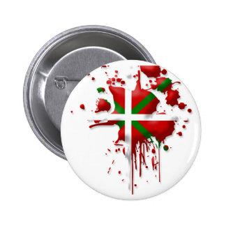 tâche drapeau Basque Euskadi Badge Rond 5 Cm