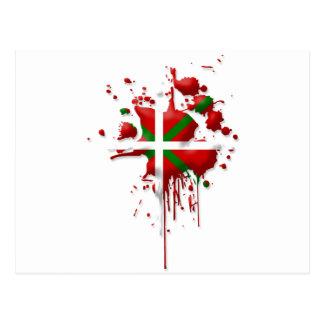 tâche drapeau Basque Euskadi Carte Postale