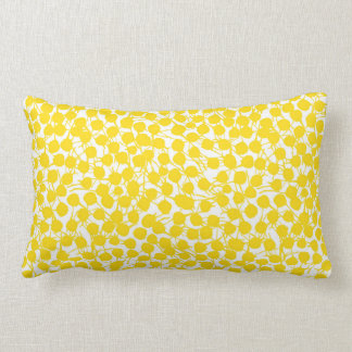 Taches botaniques jaunes coussin rectangle