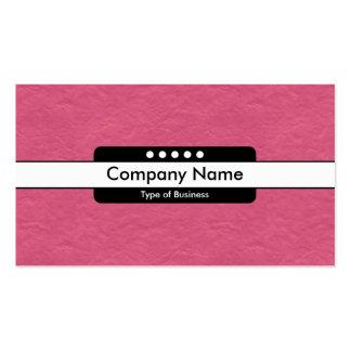 Taches centrales de la bande 5 - texture de papier carte de visite standard