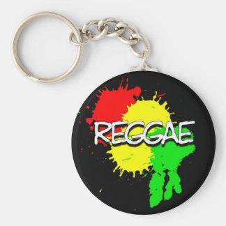 taches de drapeau de reggae sur un arrière - plan porte-clé rond