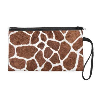 Taches de girafe sac à main avec dragonne