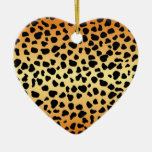 Taches de guépard - ornement de coeur