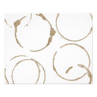 Taches de tasse de café de matin prospectus 11,4 cm x 14,2 cm