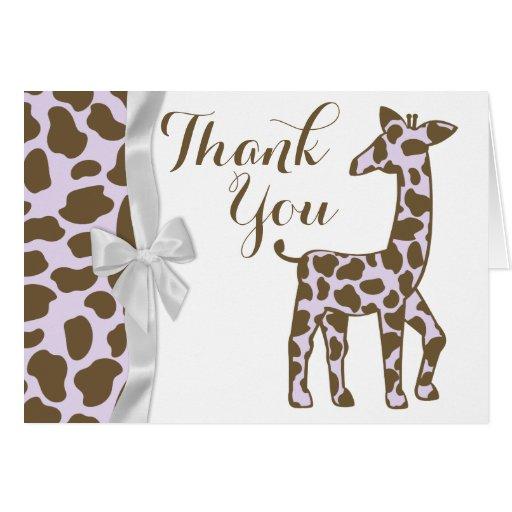 Taches pourpres de girafe avec le Merci d'arc Carte