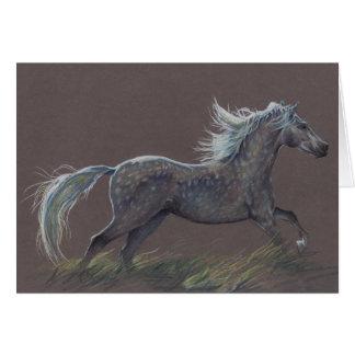 """""""Tachette"""" une carte de voeux de cheval"""