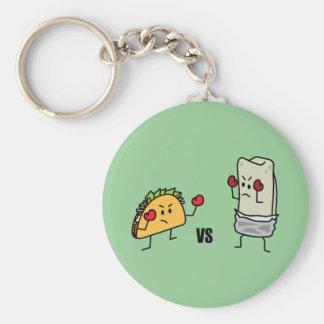Taco contre le burrito porte-clés