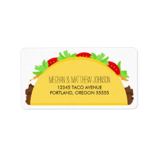Taco Étiquette D'adresse
