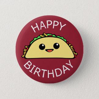 Taco mignon de joyeux anniversaire badges