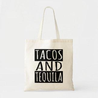 Tacos et tequila sacs de toile