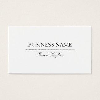 Tagline élégant cartes de visite
