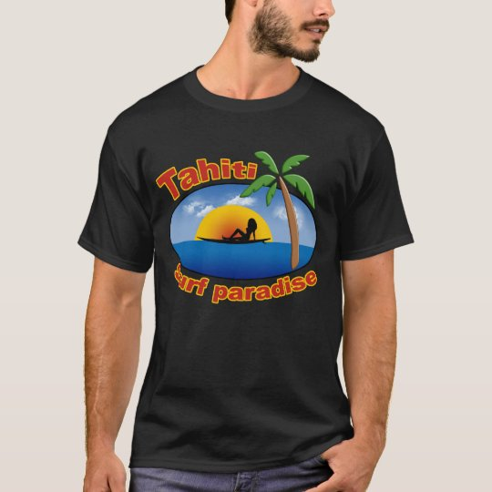 tahiti surfing t-shirt
