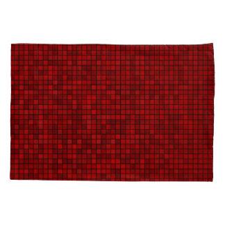 Taie d'oreiller rouge de motif de pixel