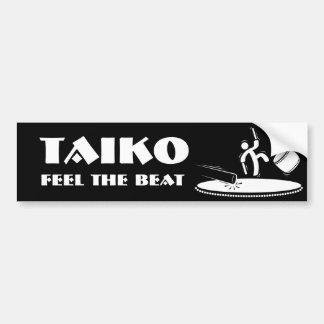 Taiko - sentez le battement - adhésif pour pare-ch autocollant de voiture