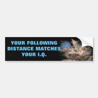 Tailgaters Q.I. ? Mêmes qu'après CAT de distance Autocollant De Voiture