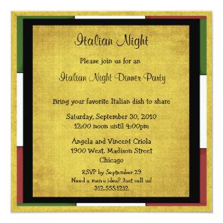 Taille italienne de carré d'invitation de dîner de carton d'invitation  13,33 cm