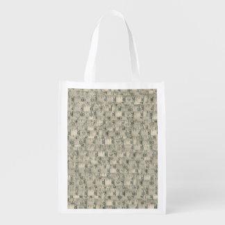 Tailleur de mesure de bandes de cru sacs d'épicerie réutilisables