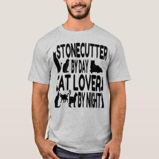 Tailleur de pierre d'amoureux des chats t-shirt